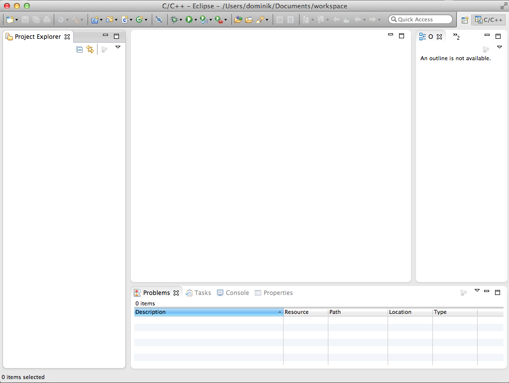 Eclipse CDT Mac OS X empty UI