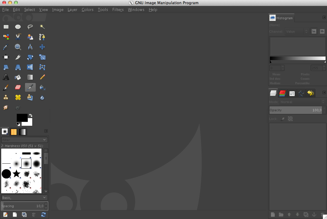 Gimp 2.8 on Mac OS X Lion