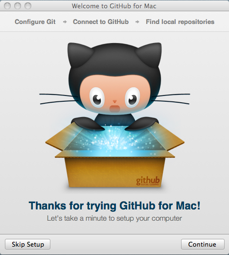Welcome Page GitHub for Mac